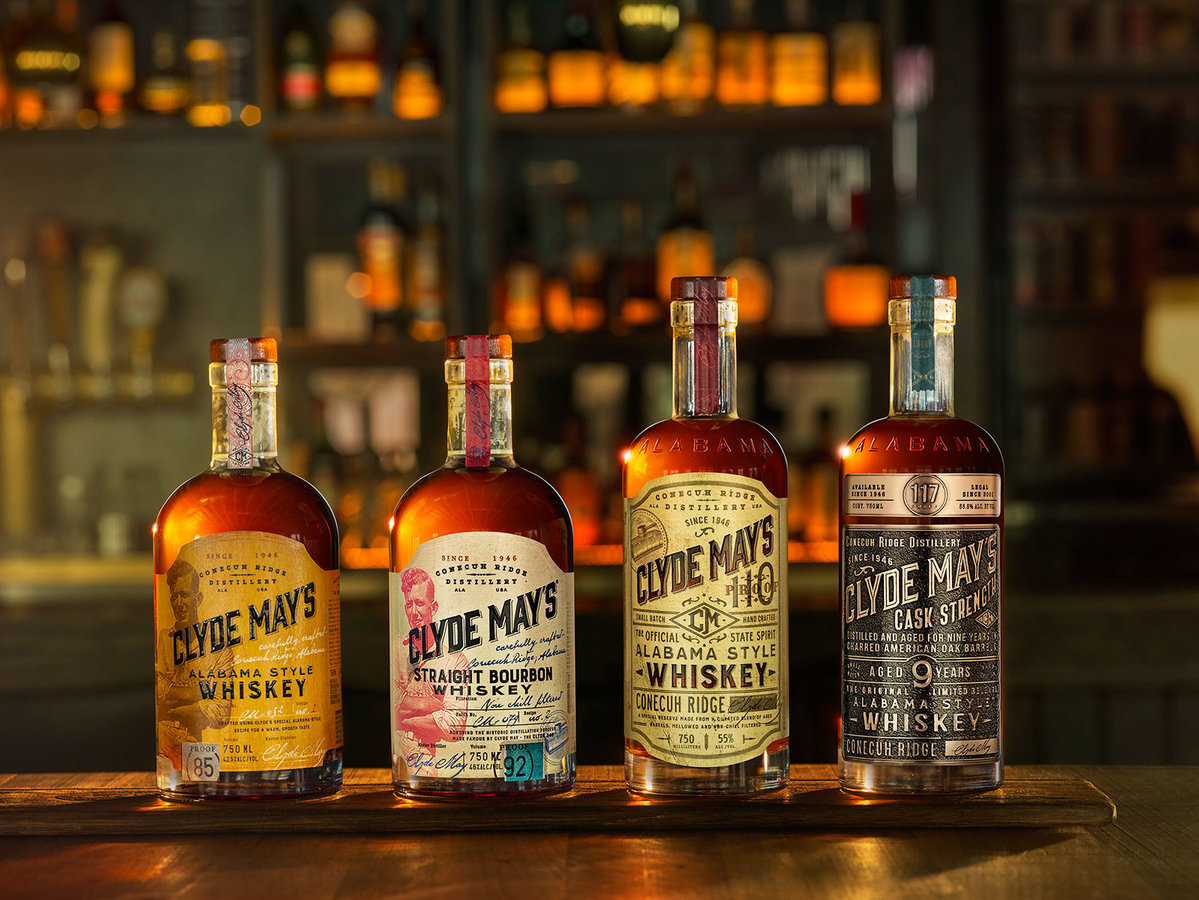 clyde-mays-whiskey-lineup